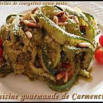 recette tagliatelles de courgettes sauce pesto