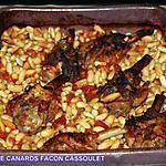 recette manchons de canard façon cassoulet