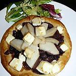 recette feuilleté d'oignons, poires et feta