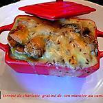 recette terrine charlotte gratiné de son munster au cumin
