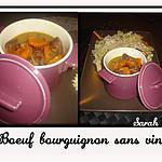 recette Boeuf bourguignon sans vin
