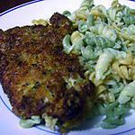 recette Mon Pané de poulet et torsades de légumes(cuisine express)