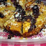 recette Gateau à la noix de coco,caramel /chocolat.