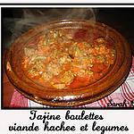 recette Tagine boulettes viande hachée & légumes