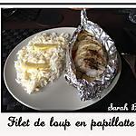 recette Filet de loup en papillotte
