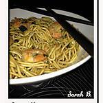 recette Nouilles aux crevettes
