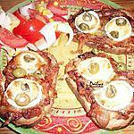 recette Mini Pizza (Bruschetta)