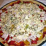 recette Pizza dinde poivron
