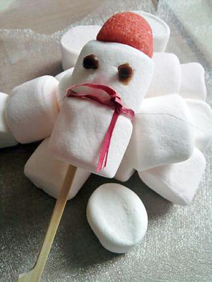 recette de bonhommes de neige chamallow