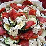 recette Tian courgette-tomate, chorizo & ricotta