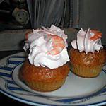 recette Cupcakes crevettes, chantilly au tarama
