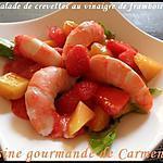 recette Salade de crevettes au  vinaigre de framboises