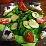 recette Toast Chèvre et Goyavier sur une Salade de Cresson