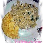 Pâtes aux courgettes fromagères