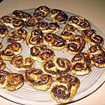 recette PALMIERS NUTELLA-COCO