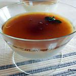 recette Flan menthe fraîche et sa gelée de thé vert