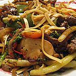 recette Rôti de boeuf aux légumes sautés