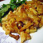 recette Gratin de Penne/Macaroni au Boucané