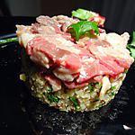 recette tartare de magret de canard et son quinoa