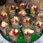 recette Verrine Tarama ~ Concombre ~ Crevette