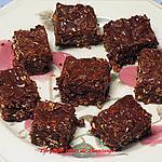 recette Carrés au gruau et au chocolat