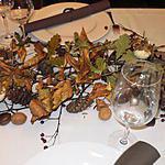recette décoration de table pour un repas forestier