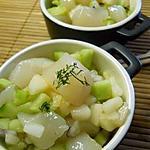 recette Tartare de Saint-jacques aux poires et au concombre