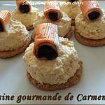 recette Sablé-crème brûlée surimi chèvre