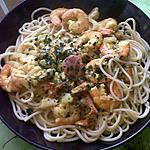 recette Spaghettis aux fruits de mer sauce curry