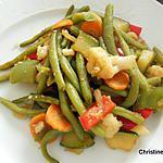 recette Poêlée de légumes au gingembre