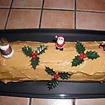 Bûche de Noël pâtissière au café de ma fille