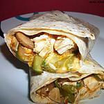 recette Fajitas au poulet et légumes verts