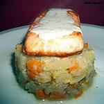 recette Pavé de saumon à la crème d'aneth et compotée de fenouil