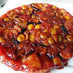 recette tatin de mirabelles compotées à la confiture de quetsches