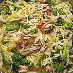 recette Orzo aux légumes