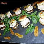 recette Feuilletés de Foie Gras au Confit d'Oignons et Abricots Moelleux
