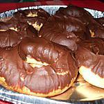 """recette Sablés à la ganache au chocolat.... en forme de """" Donuts....."""