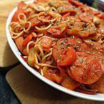recette Spaghettini au pepperoni