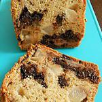 recette Cake au fromage blanc, poires-chocolat
