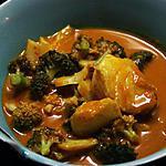 recette Curry de cabillaud et brocoli