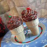 recette Cupcakes cornets au chocolat