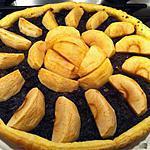 Tarte aux pommes et boudin noir