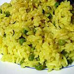 recette Zembrocal petits pois (riz jaune de la Réunion)
