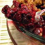 recette Crumble aux fruits rouges et aux amaretti
