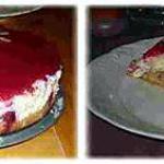 recette Bavarois au chocolat blanc et son miroir aux framboises