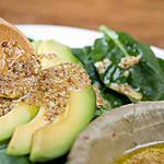 recette salade d'épinards à l'avocat