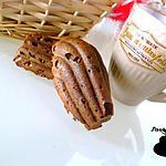 recette Madeleines amande-choco