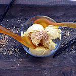 recette Glace vanille et cuillères au caramel