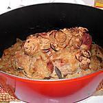 recette Roti de porc au oignons