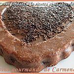recette Coeurs fondant ricotta chocolat poires